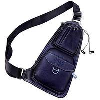 Мужская сумка-рюкзак через плечо Jeep (Черный)