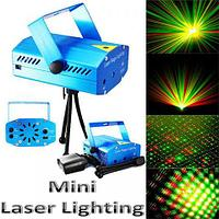 Проектор лазерный Mini Laser Stage Lighting для светомузыки