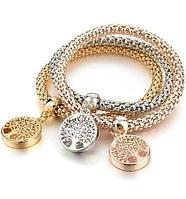 Комплект из трёх изящных браслетов с подвесками (Совы)