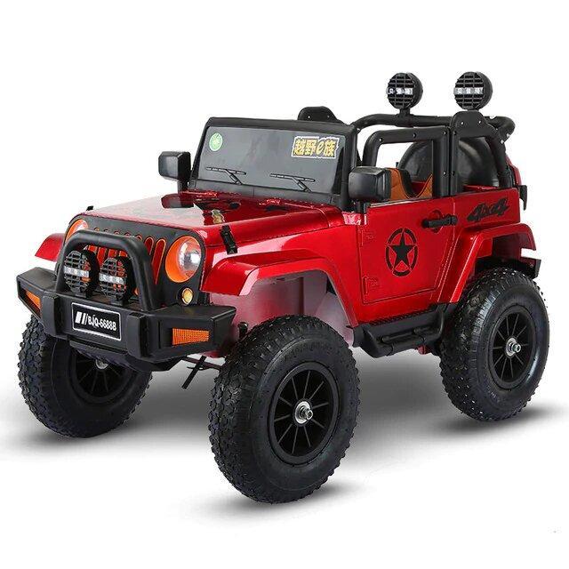Электромобиль детский джип с надувными колесами JEEP BLF-119, красный