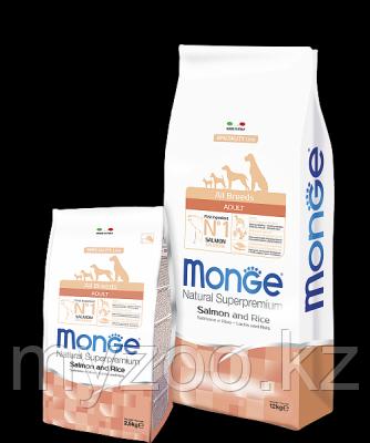 Monge Speciality Line All Breeds Adult Salmone, Монже сухой корм для собак с лососем и рисом, уп. 12кг.