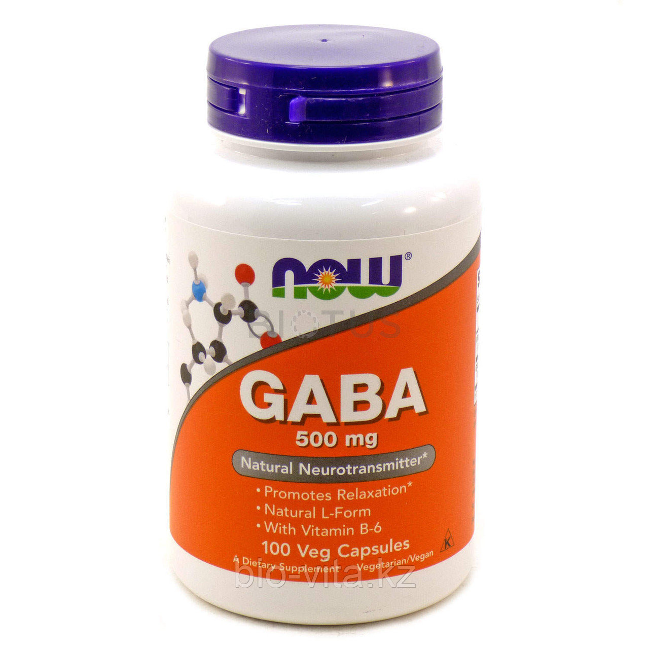 ГАМК, (GABA)500 мг Гамма-аминомасляная кислота. Аналог Гаммалона.  100 капсул.   Now Foods.