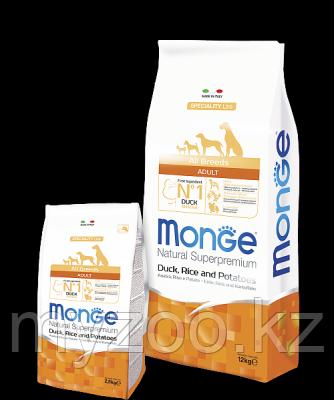 Monge Speciality Line All Breeds Adult Duck, Монже сухой корм для собак с уткой, рисом и картофелем, уп. 12кг