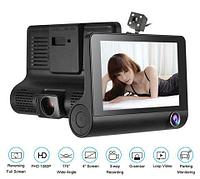 "Видеорегистратор с тремя камерами VIDEO CAR DVR L-L319 [FullHD 1080P; дисплей 4""; угол обзора 170 градусов,"