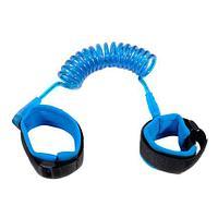 Ремень-шлейка страховочный на запястье для ребенка Lost Link (Голубой / 1,5 метра)
