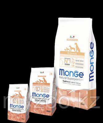 Monge Speciality Line All Breeds Puppy&Junior Salmone, Монже сухой корм для щенков и юниоров с лососем и рисом