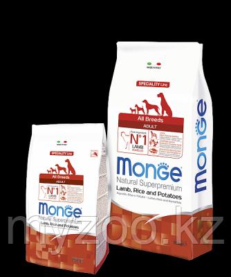 Monge Speciality Line All Breeds Adult Lamb, Монже сухой корм для собак с бараниной, рисом уп. 12 кг