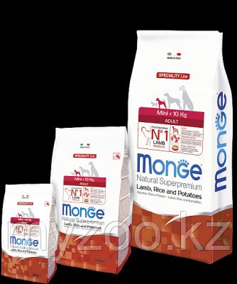 Monge Speciality Line Mini Adult Lamb, Монже сухой корм для собак мелких пород с бараниной, уп. 7,5кг.