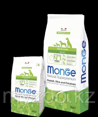 Monge Speciality Line All Breeds Adult Rabbit, Монже сухой корм для собак с кроликом, рисом 2,5кг