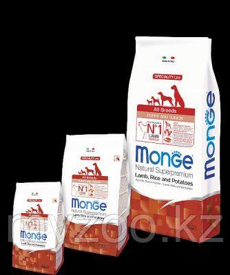 Monge Speciality Line All Breeds Puppy&Junior, Монже сухой корм для щенков и юниоров с бараниной, рисом 2,5кг