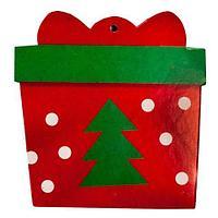 Комплект новогодних подвесок с глиттером «Праздник на пороге» [10 шт] (Новогодний подарок), фото 1