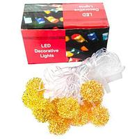 Гирлянда светодиодная LED Decorative Lights с абожурами из металла (Шарик-пружинка), фото 1