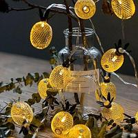 Гирлянда светодиодная LED Decorative Lights с абожурами из металла (Ананас), фото 1
