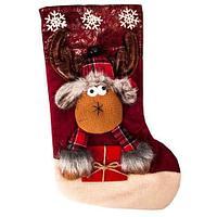 Рождественский носок для подарков с колокольчиком «Сказочный подарок» (Волшебный олень), фото 1