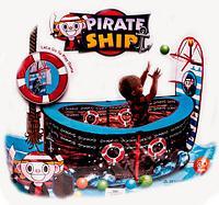 Сухой бассейн для шариков PIRATE SHIP с баскетбольным кольцом, фото 1