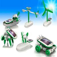 Конструктор роботов на солнечной батарее 6 в 1 ECO ROBOT KIT