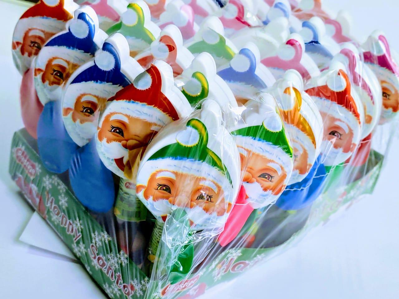 Игрушка с шариком Драже Дед Мороз  Santa 8 гр. Prestige (в упак 30шт)