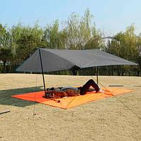 Коврик-тент-навес 3 в 1 для пляжа и пикника Magic Mat (Темно-серый), фото 1