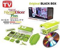 Мультирезка для овощей универсальная NicerDicer+ BLACK 2019 Edition с CD-диском, фото 1