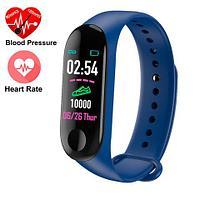 Фитнес браслет Xiaomi Band M3 с измерением давления и сердцебиения (Синий), фото 1