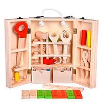 Игровой набор деревянных инструментов и деталей Hi-Q Toys [25 деталей]
