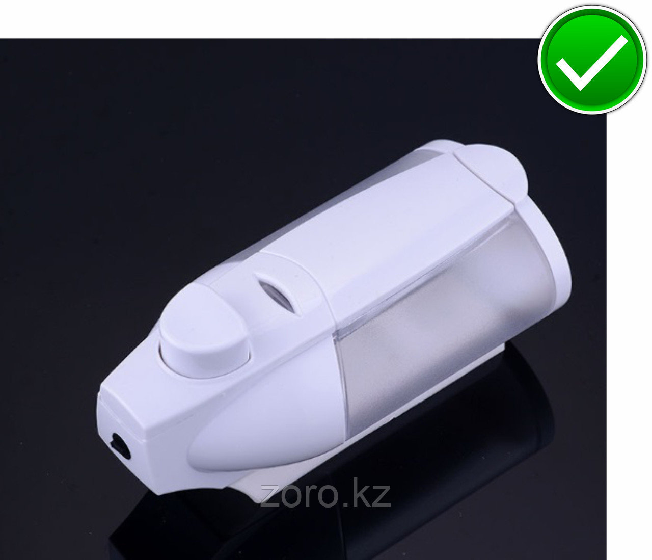 Дозатор (диспенсер) для жидкого мыла 320 мл.Белый цвет. Мыльница.