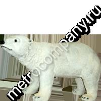 Садовая статуэтка медведь белый Н-26