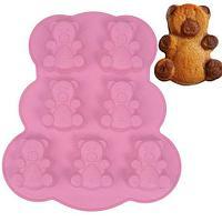 Силиконовая форма для выпечки и шоколада «Мишки Барни» [6 ячеек]
