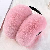 Меховые наушники складные для взрослых и подростков Keep Smile (Розовый), фото 1