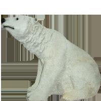 Садовая статуэтка медведь белый Н-22