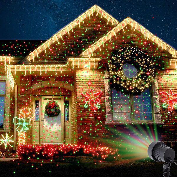 Лазерный новогодний звездный проектор Star Shower