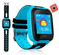 Умные детские часы-телефон с камерой, GPS-трекером и фонариком Smart Watch EDIAL KZ972L (Голубой), фото 1