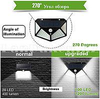 Светодиодная лампа на солнечной батарее с датчиком движения - SH-100 (широкий спектр уличного освещения)