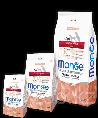 Monge Speciality Line Mini Adult Salmone, Монже сухой корм для собак мелких пород с лососем и рисом , уп.2,5кг
