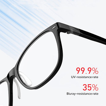 Компьютерные очки Xiaomi Roidmi Qukan B1, чёрные, фотохромные.