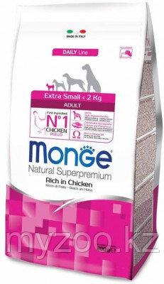 Monge Superpremium Dog Extra Small Adult, Монже корм для взрослых собак миниатюрных пород, уп.800гр.