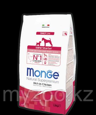 Monge Superpremium Starter Mini for Mother & Baby, Монже корм для беременных и кормящих мелких собак 800гр