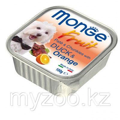 Monge Fruit Dog, нежный паштет для собак, утка с апельсином, ламистер 100гр.