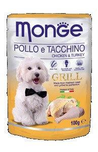 Monge Dog Grill, Монже влажный корм для собак с курицей и индейкой, пауч. 100гр.