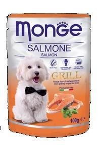 Monge Dog Grill, Монже влажный корм для собак с лососем, пауч. 100гр.