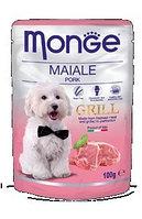 Monge Dog Grill, Монже влажный корм для собак со свининой, пауч. 100гр.