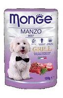 Monge Dog Grill, Монже влажный корм для собак с говядиной, пауч. 100гр.