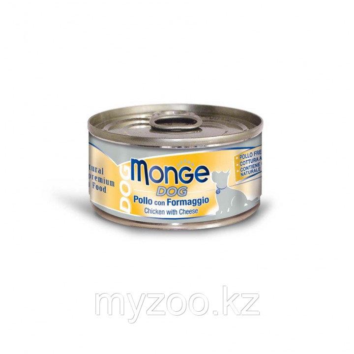 MONGE Dog cans 95 гр Кусочки для собак цыпленок с сыром