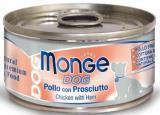 MONGE Dog cans 95 гр Кусочки для собак курица с ветчиной