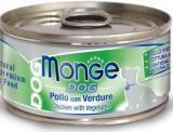MONGE Dog cans 95 гр Кусочки для собак цыпленок с овощами