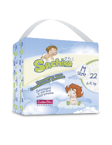 Sachiko подгузники упаковка M size TP (22шт)