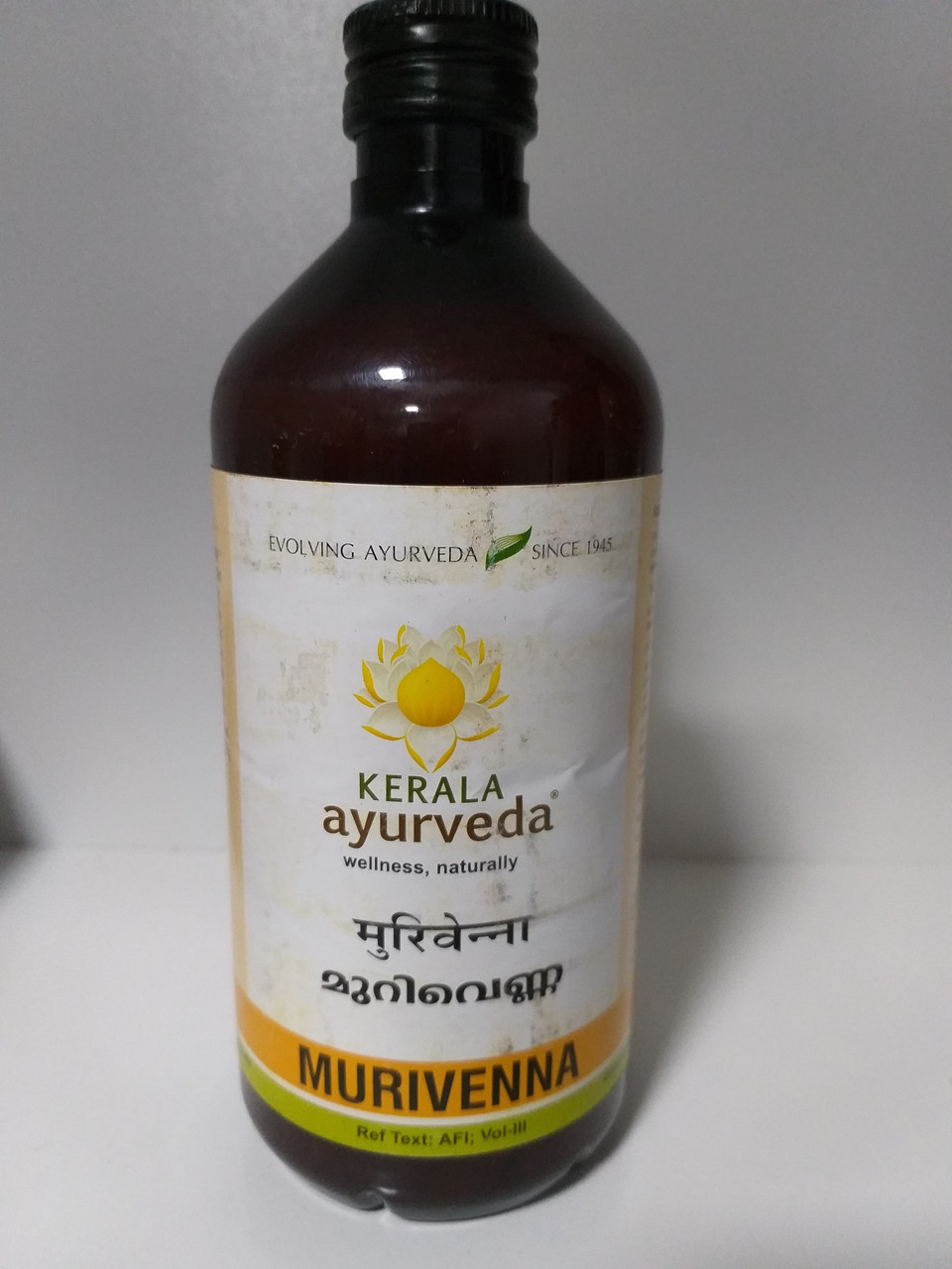 Масло для массажа  Муривенна, 450 мл, Murivenna Thailam, Kerala Ayurveda