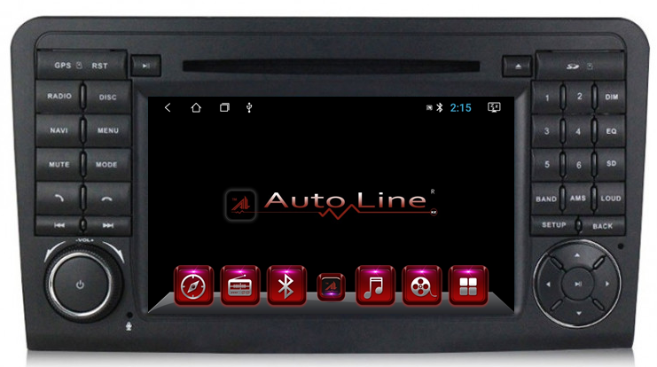 ANDROID 8.1.0 Mercedes Ml 164, Gl X164 2005-2012г. 100 HD ЭКРАН 1024-600 ПРОЦЕССОР 4 ЯДРА (QUAD CORE)