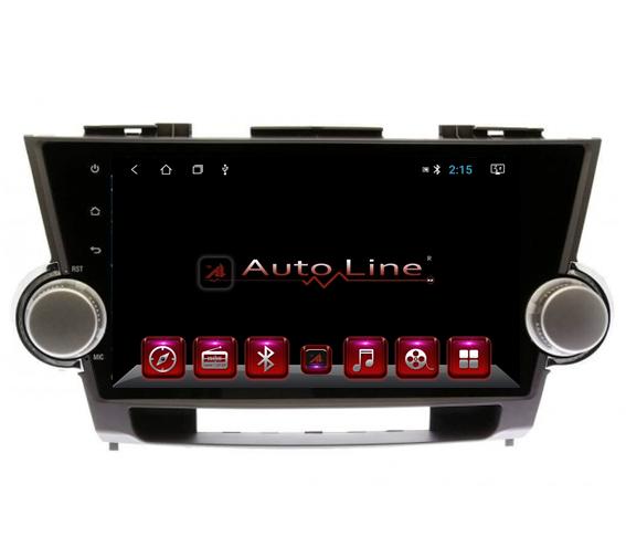 Магнитола для Toyota highlander, 2007-2013 г. ПРОЦЕССОР 4 ЯДРА (QUAD CORE)