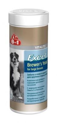 8in1 Excel BREWERS Yeast with Garlic, 8в1 Эксель Бреверс для крупных собак, уп. 80 табл.
